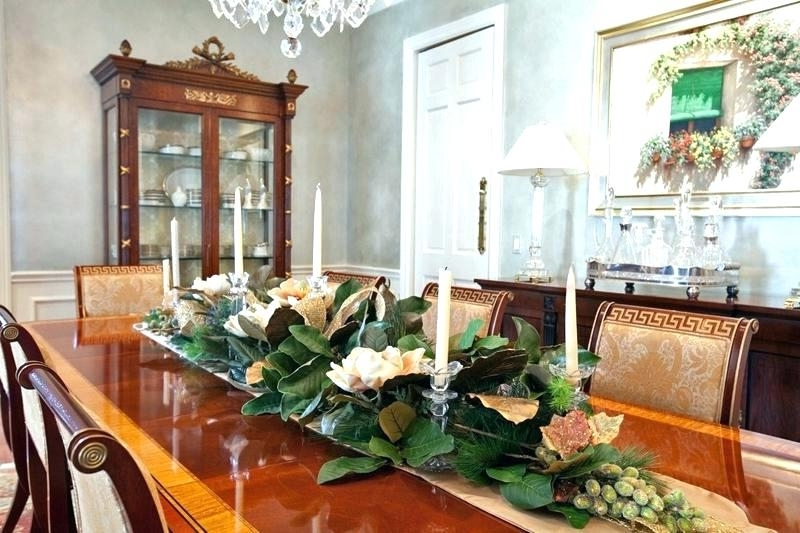 Artificial Floral Arrangements For Dining Tables Inside Most Current Dining Table Flower Arrangements Intended For Silk Flower (Gallery 7 of 20)