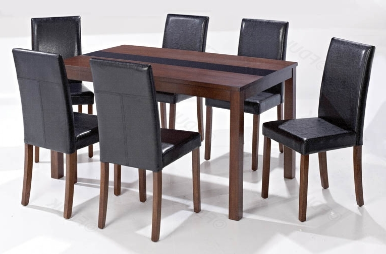 Ashleigh Walnut Large Dining Set With 6 Chair Inside Walnut Dining Table And 6 Chairs (View 2 of 20)