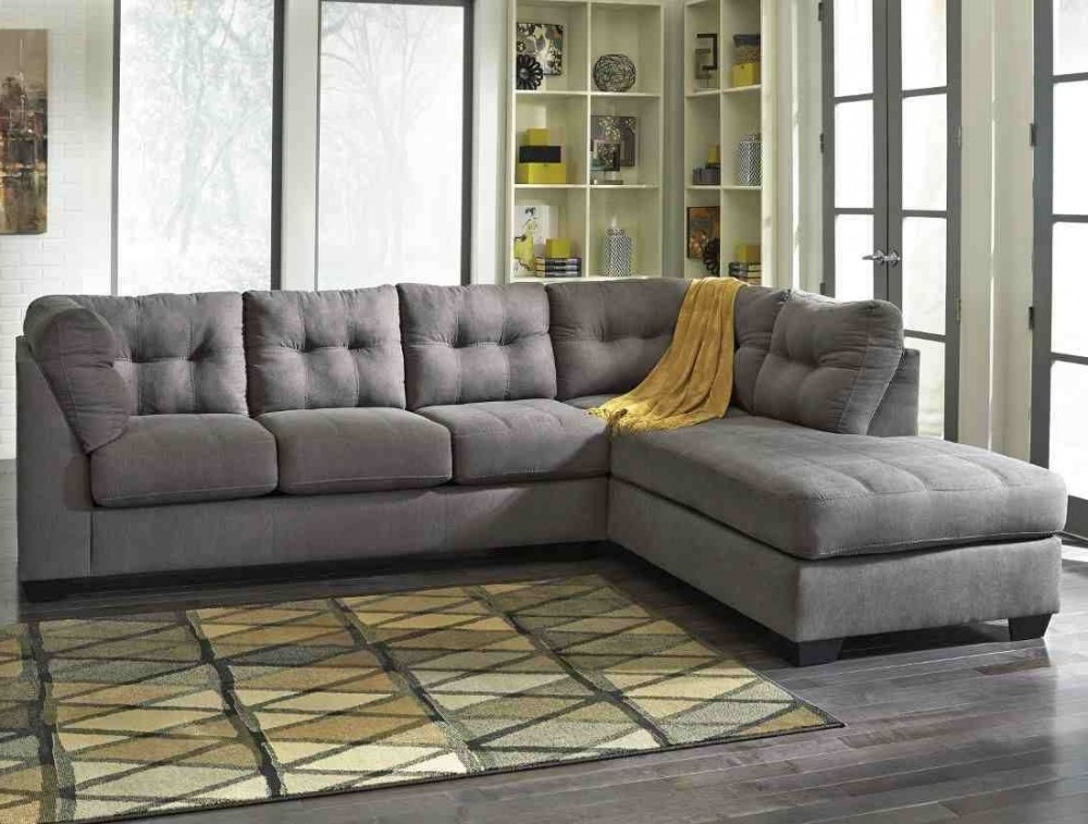 Ashley Furniture Maier 2 Piece Sectional In Charcoal With Laf Chaise Intended For Newest Aspen 2 Piece Sleeper Sectionals With Laf Chaise (View 3 of 15)