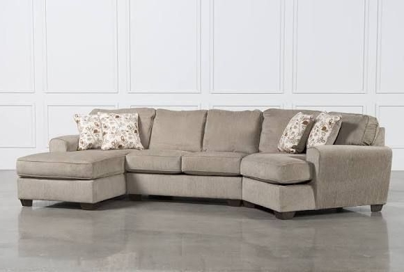 Ashley Patola Park 3 Piece Cuddler Sectional W/raf Corner Chaise Intended For Most Up To Date Sierra Down 3 Piece Sectionals With Laf Chaise (View 1 of 15)