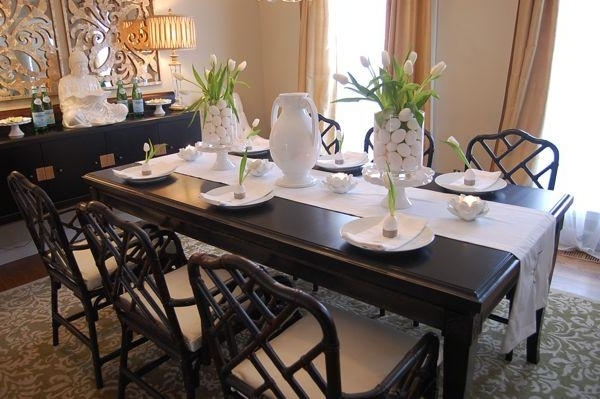 Asian Dining Tables Regarding Fashionable Easter Table Setting Ideas – Asian – Dining Room – Benjamin Moore (View 4 of 20)