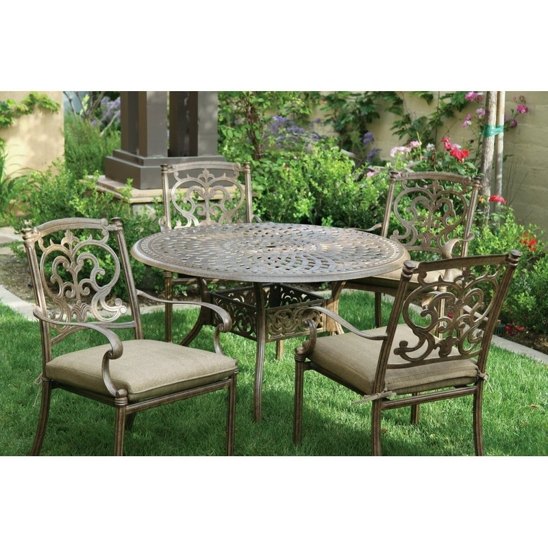Astoria Grand Palazzo Sasso 5 Piece Metal Frame Dining Set With Throughout Most Current Palazzo Rectangle Dining Tables (Gallery 16 of 20)