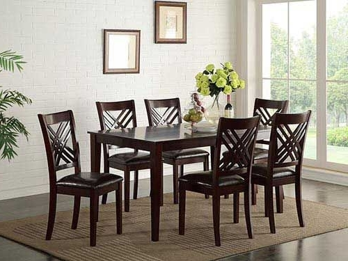 "At Rent A Center The Standard ""staten"" 7 Piece Dining Set Features Inside 2017 Craftsman 7 Piece Rectangle Extension Dining Sets With Arm & Side Chairs (View 2 of 20)"