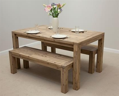 Attractive Dining Table And Bench Set Unusual Dining Table And Bench With Widely Used 3Ft Dining Tables (View 6 of 20)