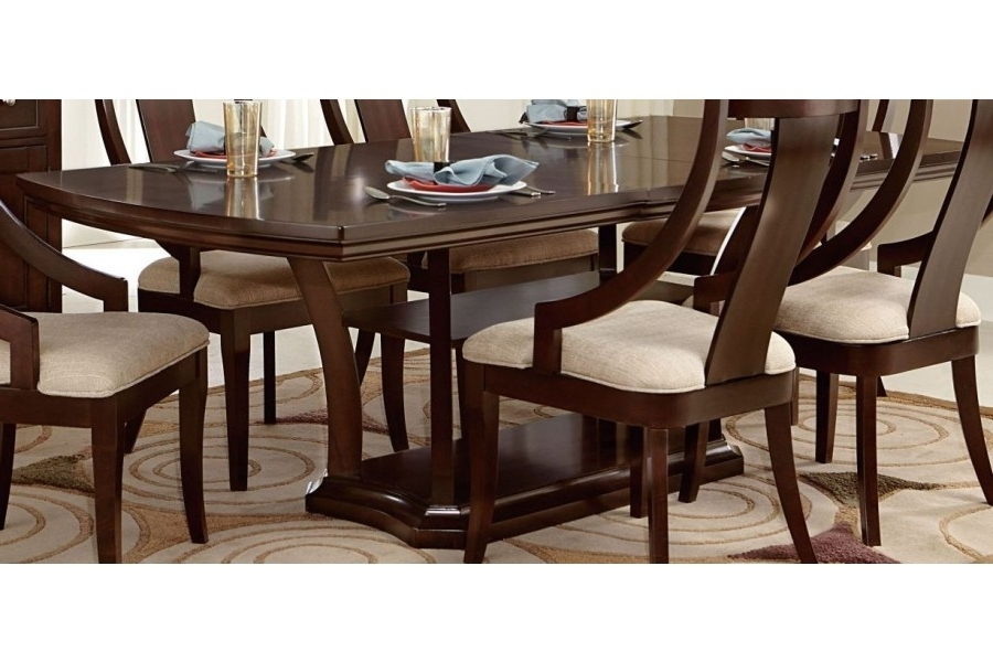 Aubriella Rectangular Pedestal Dining Table W/ Extension Leaf For Latest Caira Extension Pedestal Dining Tables (Gallery 14 of 20)