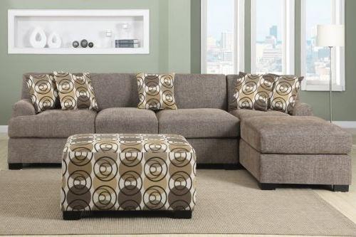 Aurora 2 Piece Sectionals With Regard To Trendy Amazon: 3 Pieces Faux Linen Sectional Sofa With Ottoman (Slate (View 4 of 15)