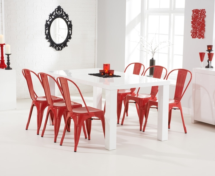 [%ava 180cm White High Gloss Dining Table + 6 Red Metal Chairs [255094 With 2018 Red Gloss Dining Tables|red Gloss Dining Tables For Favorite Ava 180cm White High Gloss Dining Table + 6 Red Metal Chairs [255094|best And Newest Red Gloss Dining Tables With Ava 180cm White High Gloss Dining Table + 6 Red Metal Chairs [255094|famous Ava 180cm White High Gloss Dining Table + 6 Red Metal Chairs [255094 Throughout Red Gloss Dining Tables%] (View 20 of 20)