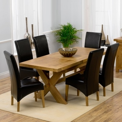 Avalon Solid Oak 160Cm Extending Dining Table With 6 Rome Chairs Regarding Recent Roma Dining Tables (View 2 of 20)