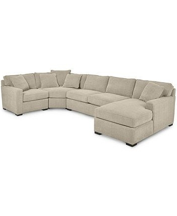 Axis Ii 4 Piece Sectional Sofa For Trendy Mcdade Graphite 2 Piece Sectionals With Raf Chaise (View 1 of 15)