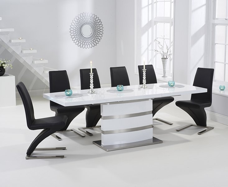Babington 160Cm White High Gloss Extending Dining Table With Intended For Well Known High Gloss Extendable Dining Tables (View 12 of 20)