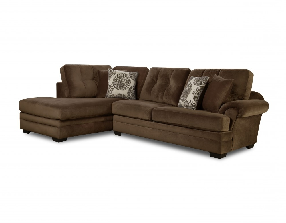 Baci Living Room Intended For Norfolk Chocolate 3 Piece Sectionals With Laf Chaise (View 5 of 15)