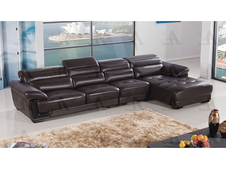 Baci Living Room With Norfolk Chocolate 6 Piece Sectionals With Laf Chaise (View 4 of 15)