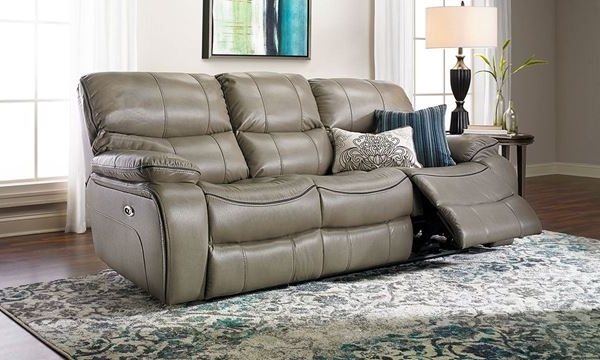 Baci Living Room Within Clyde Grey Leather 3 Piece Power Reclining Sectionals With Pwr Hdrst & Usb (View 11 of 15)