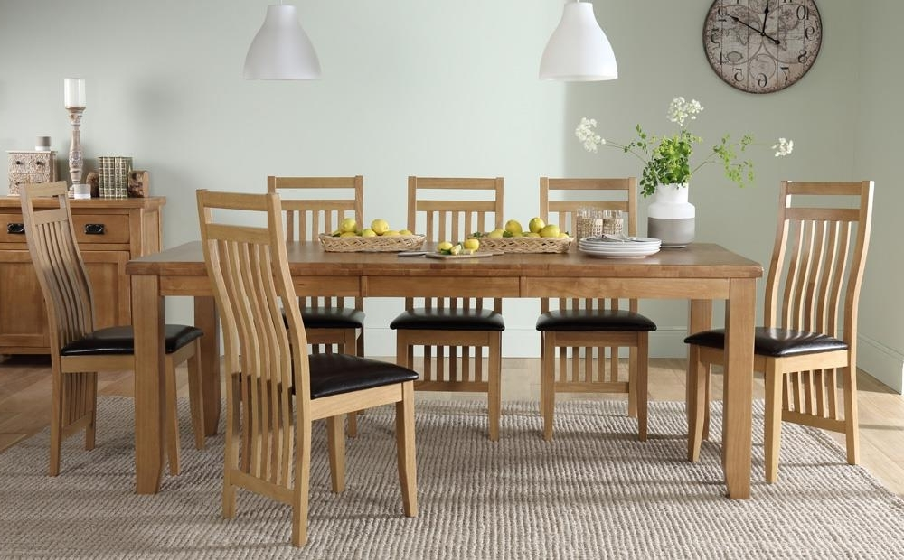 Bali Dining Tables Inside Newest Highbury Oak Extending Dining Table With 4 Bali Chairs (Brown Seat (View 4 of 20)