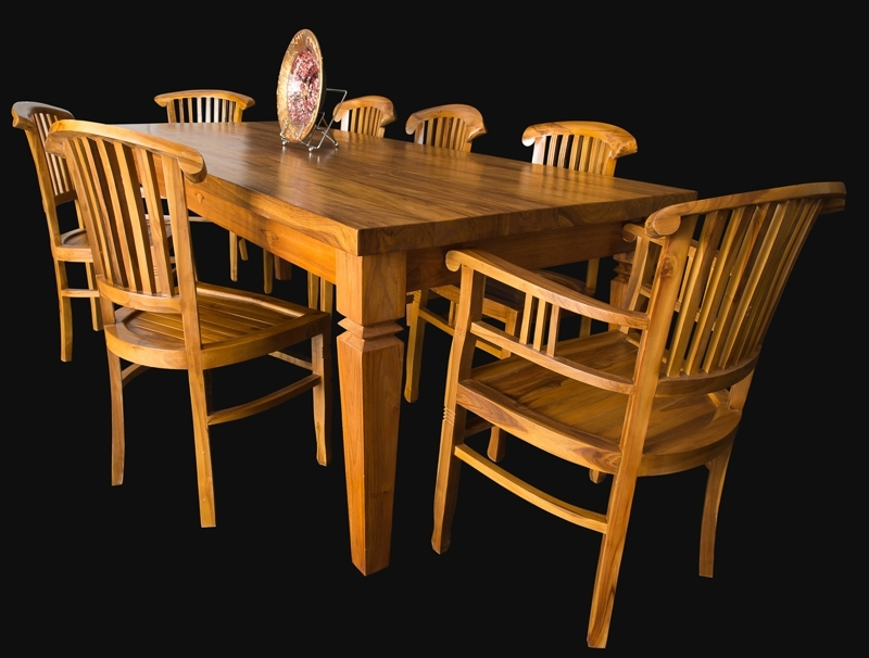 Bali Teak Furniture Portland Quality Wood Indoor Dining Tables Regarding Most Current Bali Dining Tables (View 10 of 20)