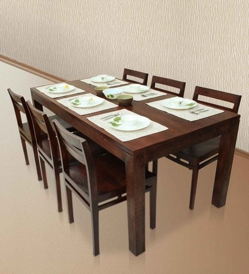 Barcelona Dining Tables Intended For Recent Buy Gresham Barcelona Six Seater Dining Table Set In Mahogany Finish (View 7 of 20)