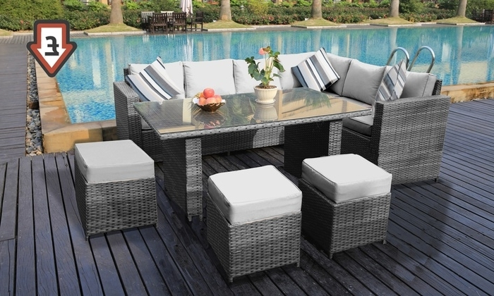 Barcelona Dining Tables With 2017 Barcelona Rattan Dining Set (View 17 of 20)