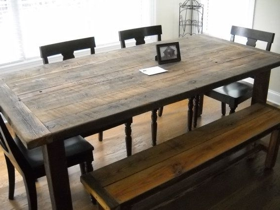 Barn House Dining Tables Intended For 2017 Rustic Wood Dining Table Frontarticle Com Regarding Barn Room Idea (View 12 of 20)