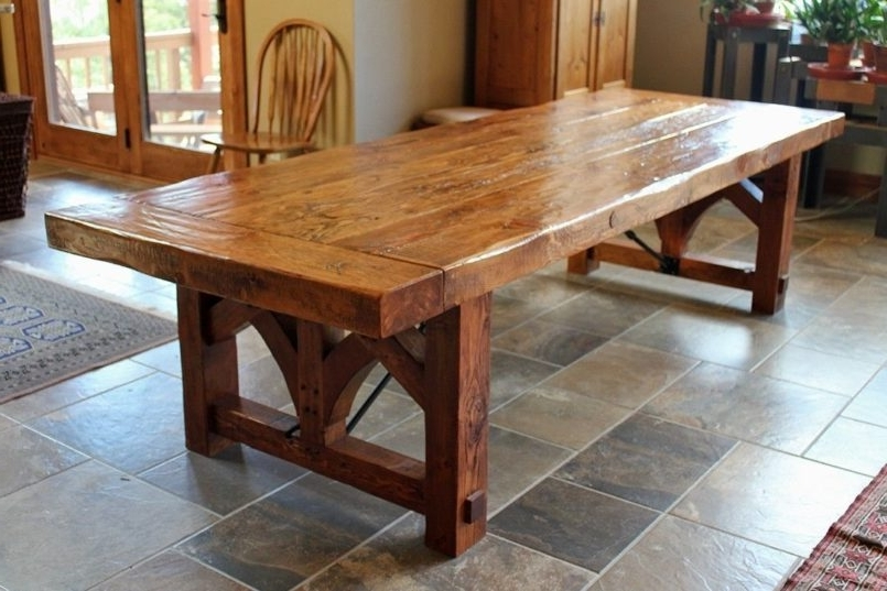Barn House Dining Tables Pertaining To Popular Dining Room Farmhouse Table And Chairs With Bench Skinny Farmhouse (View 8 of 20)