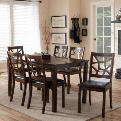 Baxton Studio – Kitchen & Dining Room Furniture – Furniture – The Within Widely Used Laurent 7 Piece Counter Sets With Upholstered Counterstools (View 4 of 20)
