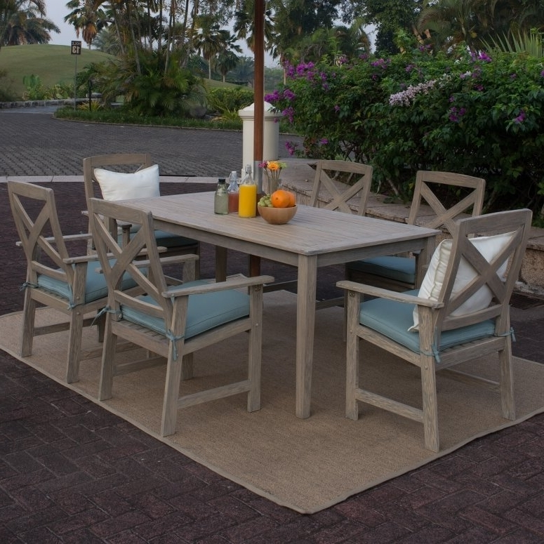 Beachcrest Home Englewood 6 Piece Dining Set With Cushions & Reviews With Famous Cora 5 Piece Dining Sets (View 3 of 20)