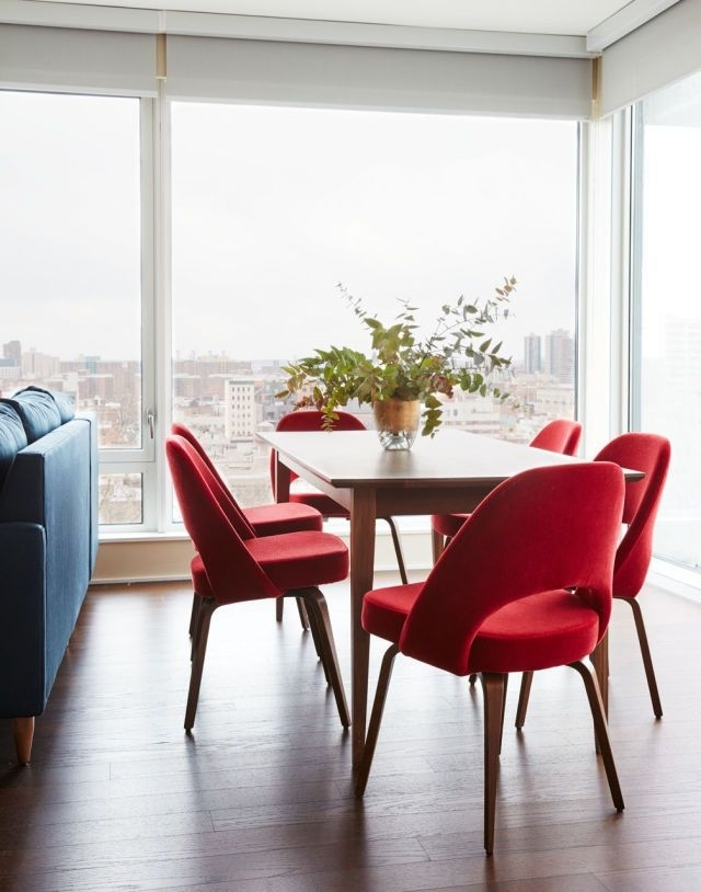 Beautiful Delightful Red Dining Room Chairs Red Dining Room Chairs Pertaining To Best And Newest Red Dining Chairs (View 2 of 20)