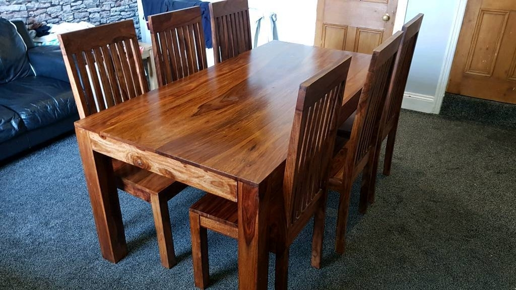 Beautiful Indian Sheesham Dining Table And 6 Chairs (View 5 of 20)