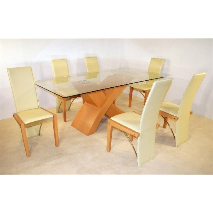 Beech Dining Tables And Chairs Throughout Preferred Arizona Beech Dining Table + 6 Chairs (View 6 of 20)