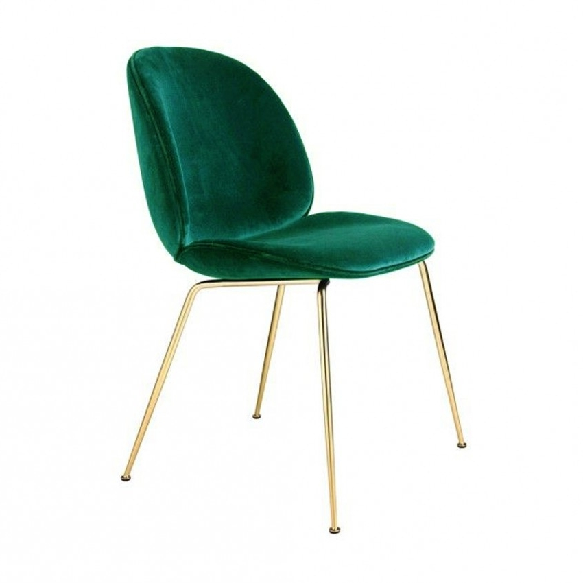 Beetle Dining Chair Green Velvet With Brass Legs – The Conran Shop Intended For Famous Velvet Dining Chairs (View 3 of 20)