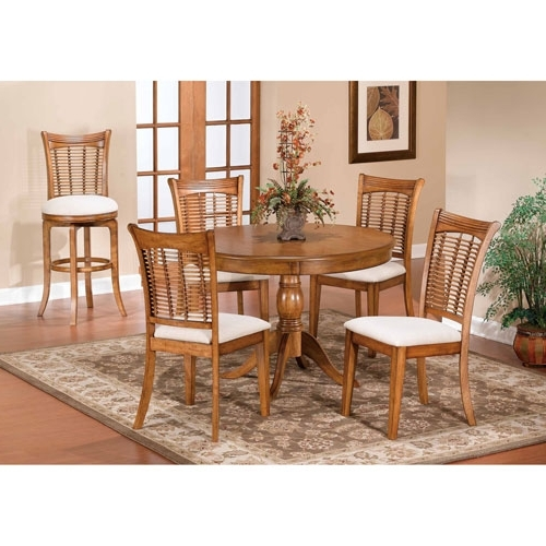 Bellacor Pertaining To Valencia 5 Piece Round Dining Sets With Uph Seat Side Chairs (View 7 of 20)