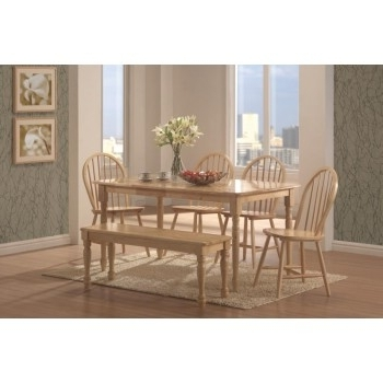 Benson Rectangle Dining Tables Within Preferred Benson Collection – Benson Country Natural Dining Table (View 9 of 20)