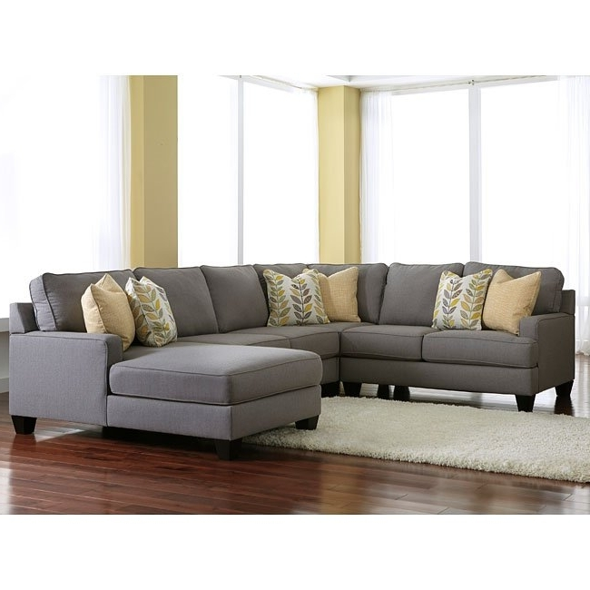Benton 4 Piece Sectionals Inside Recent Chamberly Alloy Modular Sectional W/ Chaise – Living Room Furniture (View 5 of 15)