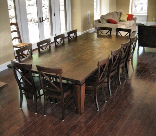 Best 12 Seater Square Dining Table 12 Seat Dining Room Table We Within Best And Newest Farm Dining Tables (View 3 of 20)