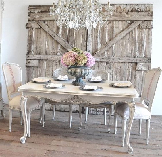 Best And Newest 26 Ways To Create A Shabby Chic Dining Room Or Area – Shelterness Intended For Shabby Chic Cream Dining Tables And Chairs (View 3 of 20)