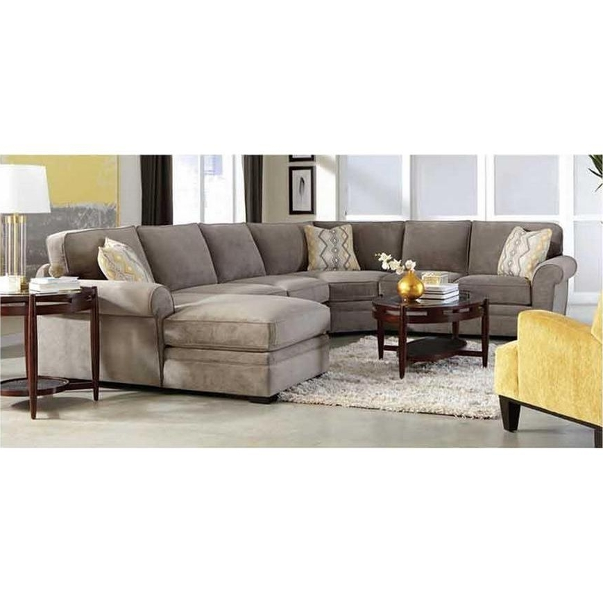 Best And Newest 4Pc401Vintageopt1 Orion Gray Upholstered 4 Piece Sectional (View 4 of 15)