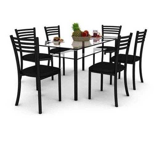 Best And Newest 6 Seater Glass Dining Table Set, Glass Dining Room Table, Glass Within 6 Seater Glass Dining Table Sets (View 7 of 20)