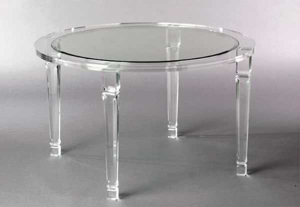 Best And Newest Acrylic Round Dining Tables Regarding More Acrylic Furniture Finds For A Sleek Style (View 6 of 20)