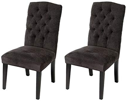 Best And Newest Amazon – Christopher Knight Home 234897 Crown Top Dark Grey Within Grey Dining Chairs (View 1 of 20)
