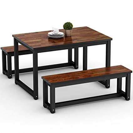 Best And Newest Amazon – Little Tree Dining Table Set With Two Benches, 3 Piece With Tree Dining Tables (View 1 of 20)