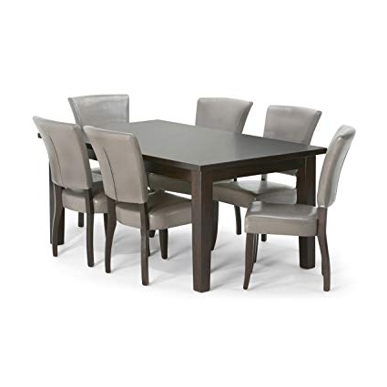 Best And Newest Amazon: Simpli Home Joseph 7 Piece Dining Set, Taupe: Kitchen Regarding Walden 7 Piece Extension Dining Sets (View 5 of 20)