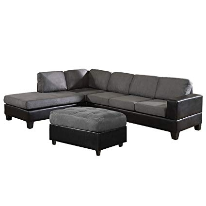Best And Newest Amazon: Us Pride Sierra Microfiber Sectional Sofa With Ottoman Regarding Sierra Down 3 Piece Sectionals With Laf Chaise (View 2 of 15)