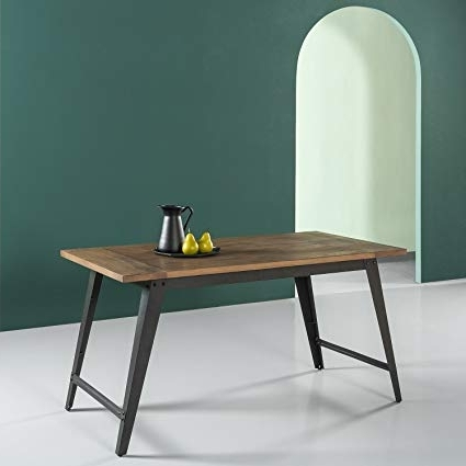 Best And Newest Amazon – Zinus Wood And Metal Dining Table – Tables Within Iron And Wood Dining Tables (View 1 of 20)