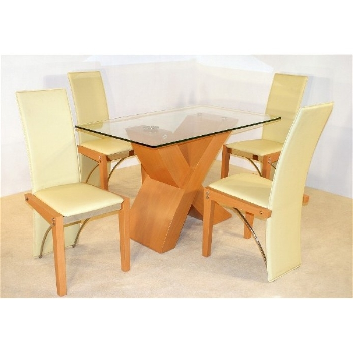 Best And Newest Arizona Beech Dining Table + 4 Chairs Inside Beech Dining Tables And Chairs (View 8 of 20)