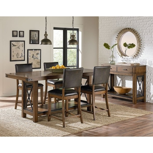 Best And Newest Benson Rectangle Dining Tables Inside Benson Counter Height Dining Table – Free Shipping Today – Overstock (View 11 of 20)