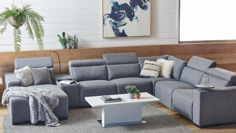 Best And Newest Benton Fabric Powered Recliner Modular Sofa With Chaise Harvey With Norfolk Grey 6 Piece Sectionals With Laf Chaise (View 2 of 15)