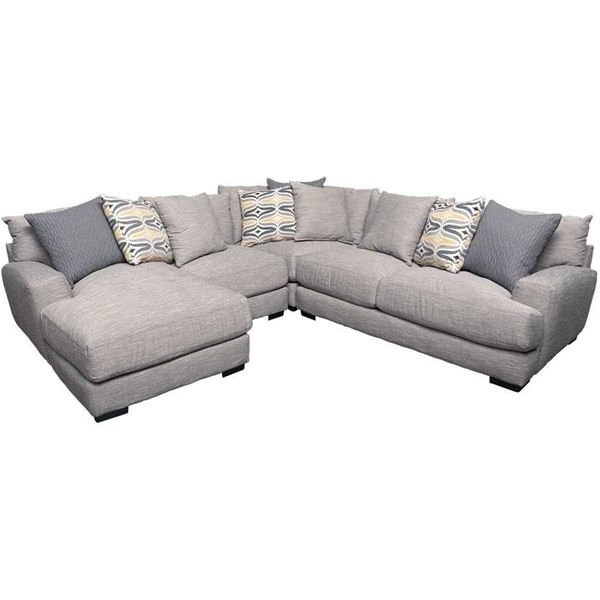 Best And Newest Burton Leather 3 Piece Sectionals With Ottoman Throughout Barton 4Pc Sectional With Raf Chaise (View 2 of 15)