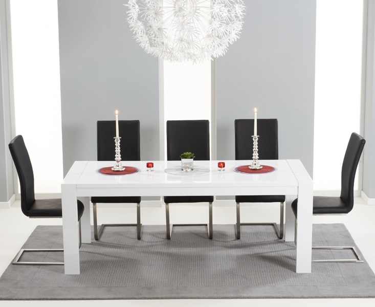 Best And Newest Buy Large White Extendable Dining Table For Extending White Gloss Dining Tables (View 2 of 20)