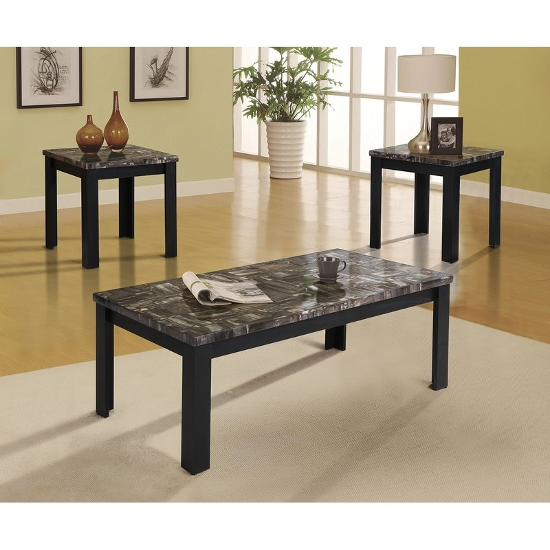 Best And Newest Carly Rectangle Dining Tables Within A&j Homes Studio Carly 3 Piece Coffee Table Set (View 2 of 20)