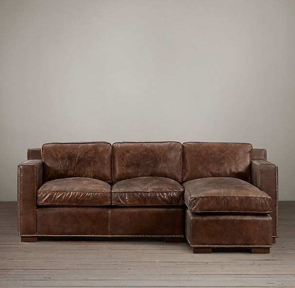 Best And Newest Collins Leather Left Arm Sofa Chaise Sectional With Nailheads Pertaining To Collins Sofa Sectionals With Reversible Chaise (View 9 of 15)
