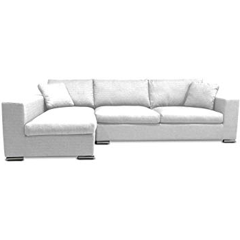 Best And Newest Collins Sofa Sectionals With Reversible Chaise With Amazon: Kmp Furniture Bernie Sectional Sofa Right Chaise – White (View 15 of 15)